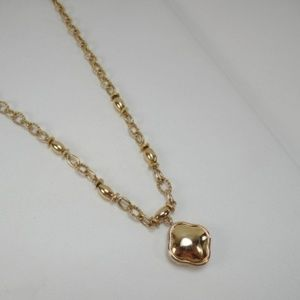Napier Gold Tone Pendant Choker Necklace